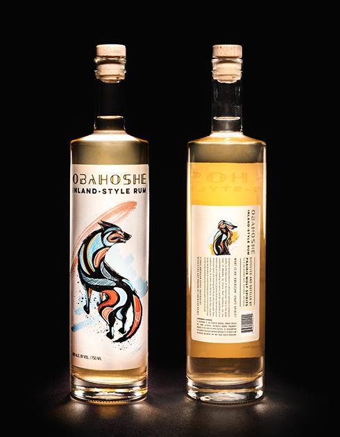 Oklahoman Obahoshe Rum Bottle